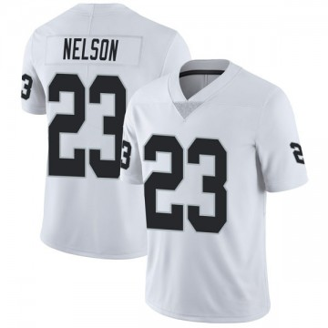 Youth Nike Las Vegas Raiders Nick Nelson White Vapor Untouchable Jersey - Limited