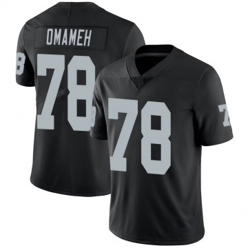 Youth Nike Las Vegas Raiders Patrick Omameh Black 100th Vapor Jersey - Limited