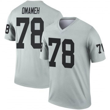 Youth Nike Las Vegas Raiders Patrick Omameh Inverted Silver Jersey - Legend