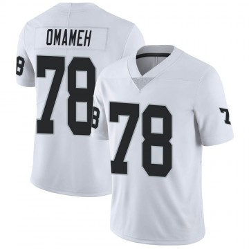 Youth Nike Las Vegas Raiders Patrick Omameh White Vapor Untouchable Jersey - Limited