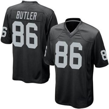 Youth Nike Las Vegas Raiders Paul Butler Black Team Color Jersey - Game
