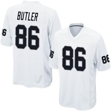 Youth Nike Las Vegas Raiders Paul Butler White Jersey - Game