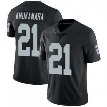 Youth Nike Las Vegas Raiders Prince Amukamara Black 100th Vapor Jersey - Limited