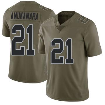 Youth Nike Las Vegas Raiders Prince Amukamara Green 2017 Salute to Service Jersey - Limited