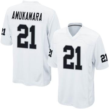 Youth Nike Las Vegas Raiders Prince Amukamara White Jersey - Game