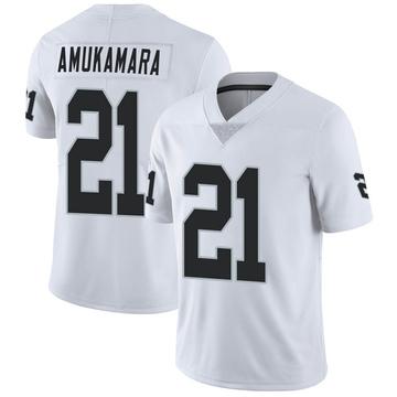Youth Nike Las Vegas Raiders Prince Amukamara White Vapor Untouchable Jersey - Limited