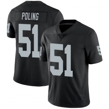 Youth Nike Las Vegas Raiders Quentin Poling Black 100th Vapor Jersey - Limited