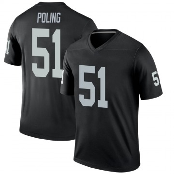 Youth Nike Las Vegas Raiders Quentin Poling Black Jersey - Legend
