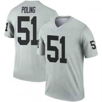 Youth Nike Las Vegas Raiders Quentin Poling Inverted Silver Jersey - Legend
