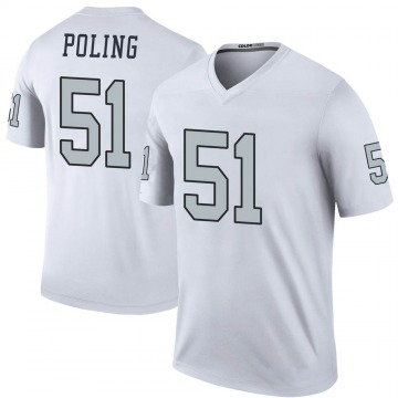 Youth Nike Las Vegas Raiders Quentin Poling White Color Rush Jersey - Legend