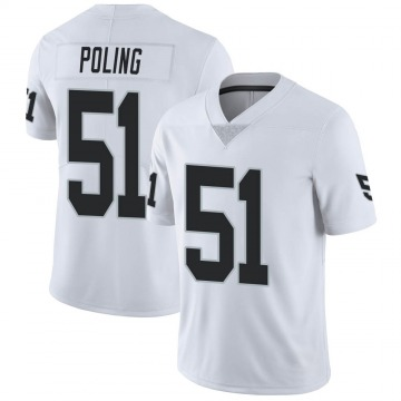 Youth Nike Las Vegas Raiders Quentin Poling White Vapor Untouchable Jersey - Limited