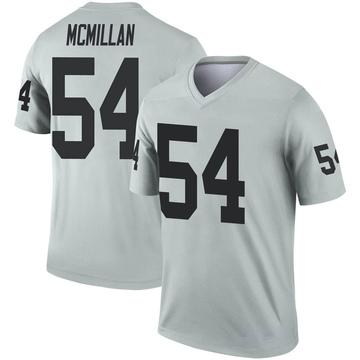 Youth Nike Las Vegas Raiders Raekwon McMillan Inverted Silver Jersey - Legend