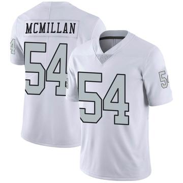 Youth Nike Las Vegas Raiders Raekwon McMillan White Color Rush Jersey - Limited