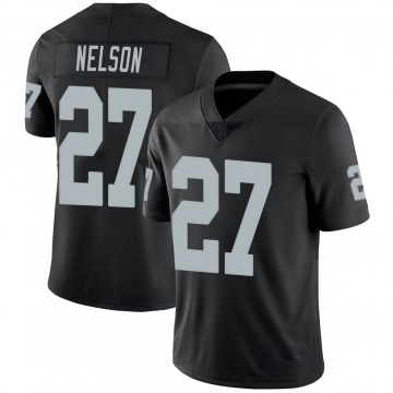 Youth Nike Las Vegas Raiders Reggie Nelson Black 100th Vapor Jersey - Limited