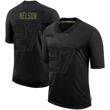 Youth Nike Las Vegas Raiders Reggie Nelson Black 2020 Salute To Service Jersey - Limited