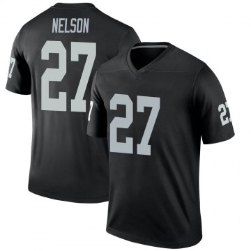Youth Nike Las Vegas Raiders Reggie Nelson Black Jersey - Legend