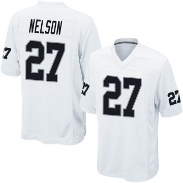 Youth Nike Las Vegas Raiders Reggie Nelson White Jersey - Game