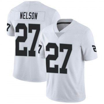 Youth Nike Las Vegas Raiders Reggie Nelson White Vapor Untouchable Jersey - Limited