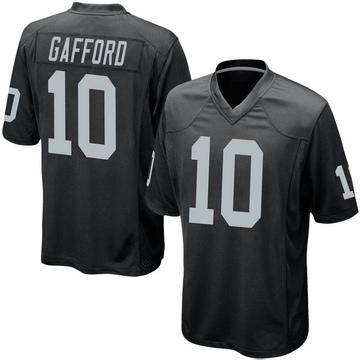 Youth Nike Las Vegas Raiders Rico Gafford Black Team Color Jersey - Game