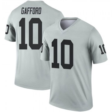 Youth Nike Las Vegas Raiders Rico Gafford Inverted Silver Jersey - Legend