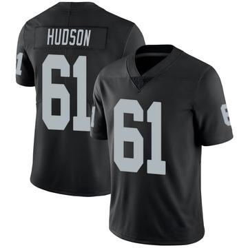 Youth Nike Las Vegas Raiders Rodney Hudson Black 100th Vapor Jersey - Limited