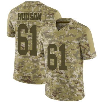 Youth Nike Las Vegas Raiders Rodney Hudson Camo 2018 Salute to Service Jersey - Limited
