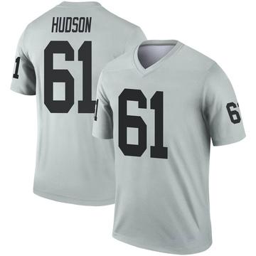 Youth Nike Las Vegas Raiders Rodney Hudson Inverted Silver Jersey - Legend