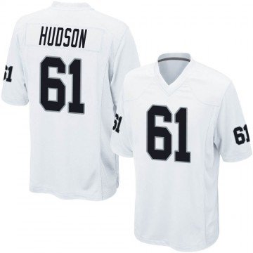 Youth Nike Las Vegas Raiders Rodney Hudson White Jersey - Game