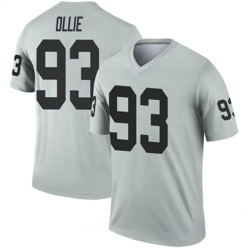 Youth Nike Las Vegas Raiders Ronald Ollie Inverted Silver Jersey - Legend