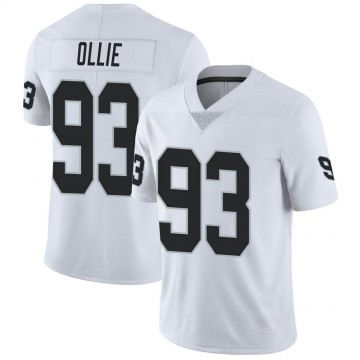 Youth Nike Las Vegas Raiders Ronald Ollie White Vapor Untouchable Jersey - Limited