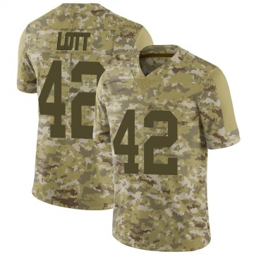 Youth Nike Las Vegas Raiders Ronnie Lott Camo 2018 Salute to Service Jersey - Limited