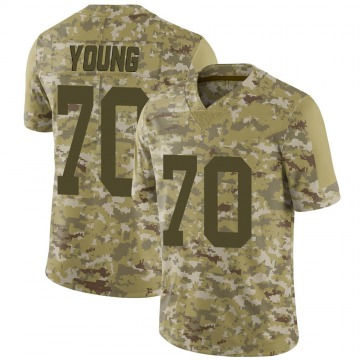 Youth Nike Las Vegas Raiders Sam Young Camo 2018 Salute to Service Jersey - Limited