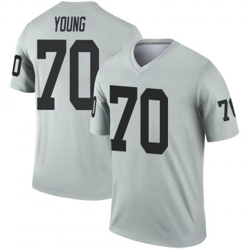Youth Nike Las Vegas Raiders Sam Young Inverted Silver Jersey - Legend