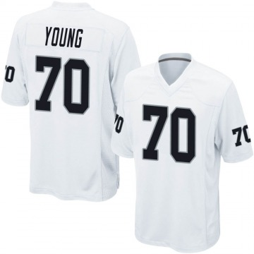 Youth Nike Las Vegas Raiders Sam Young White Jersey - Game