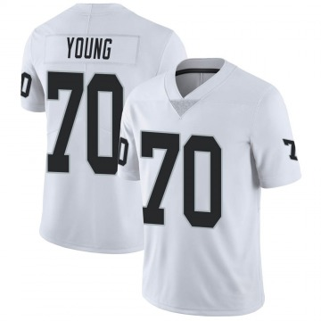 Youth Nike Las Vegas Raiders Sam Young White Vapor Untouchable Jersey - Limited