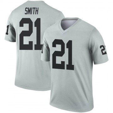 Youth Nike Las Vegas Raiders Sean Smith Inverted Silver Jersey - Legend