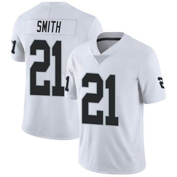 Youth Nike Las Vegas Raiders Sean Smith White Vapor Untouchable Jersey - Limited