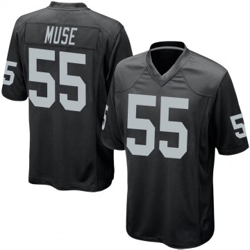 Youth Nike Las Vegas Raiders Tanner Muse Black Team Color Jersey - Game