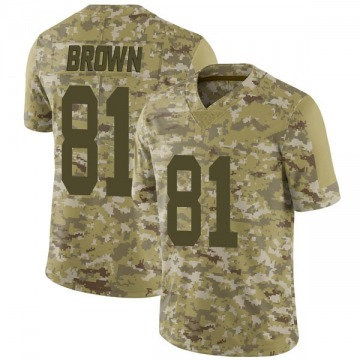 Youth Nike Las Vegas Raiders Tim Brown Brown Camo 2018 Salute to Service Jersey - Limited