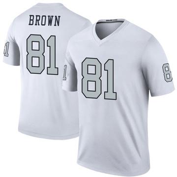 Youth Nike Las Vegas Raiders Tim Brown White Color Rush Jersey - Legend