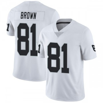 Youth Nike Las Vegas Raiders Tim Brown White Vapor Untouchable Jersey - Limited