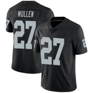 Youth Nike Las Vegas Raiders Trayvon Mullen Black 100th Vapor Jersey - Limited