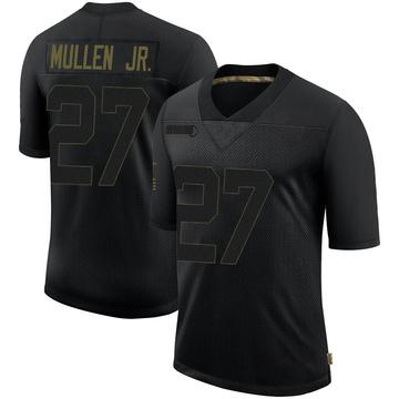 Youth Nike Las Vegas Raiders Trayvon Mullen Black 2020 Salute To Service Jersey - Limited
