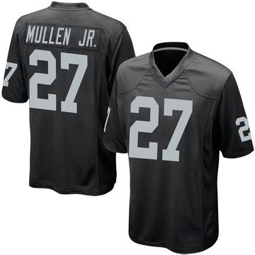 Youth Nike Las Vegas Raiders Trayvon Mullen Black Team Color Jersey - Game