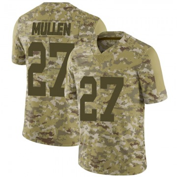 Youth Nike Las Vegas Raiders Trayvon Mullen Camo 2018 Salute to Service Jersey - Limited