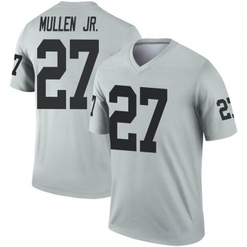 Youth Nike Las Vegas Raiders Trayvon Mullen Inverted Silver Jersey - Legend