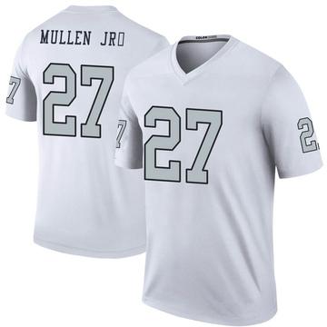Youth Nike Las Vegas Raiders Trayvon Mullen White Color Rush Jersey - Legend