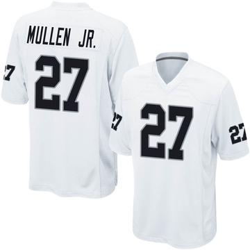 Youth Nike Las Vegas Raiders Trayvon Mullen White Jersey - Game