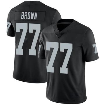 Youth Nike Las Vegas Raiders Trent Brown Black 100th Vapor Jersey - Limited