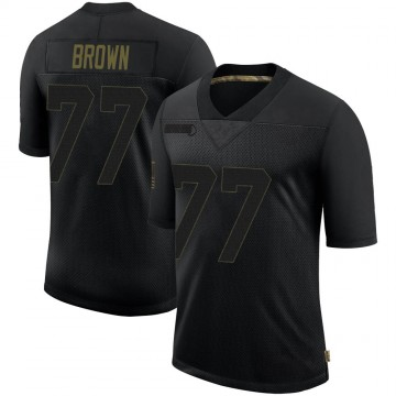 Youth Nike Las Vegas Raiders Trent Brown Black 2020 Salute To Service Jersey - Limited